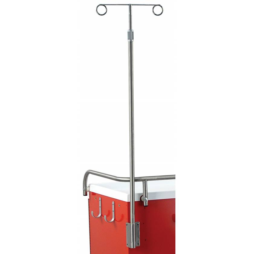 IV Pole with 4 Prong for Classic and Mini Line Carts