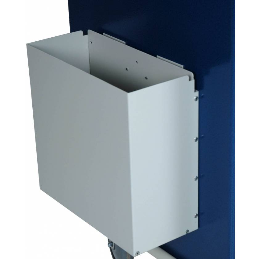 Aluminum Waste Container with Mounting Bracket - No Lid