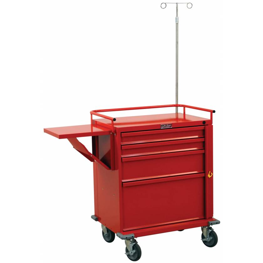 V-Series Emergency Cart Four Drawer with Accessory Package