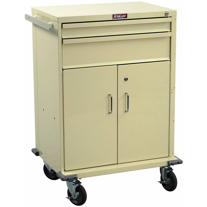 V-Series Treatment and Procedure Cart - Tall Two Drawer with Lower Storage Compartment