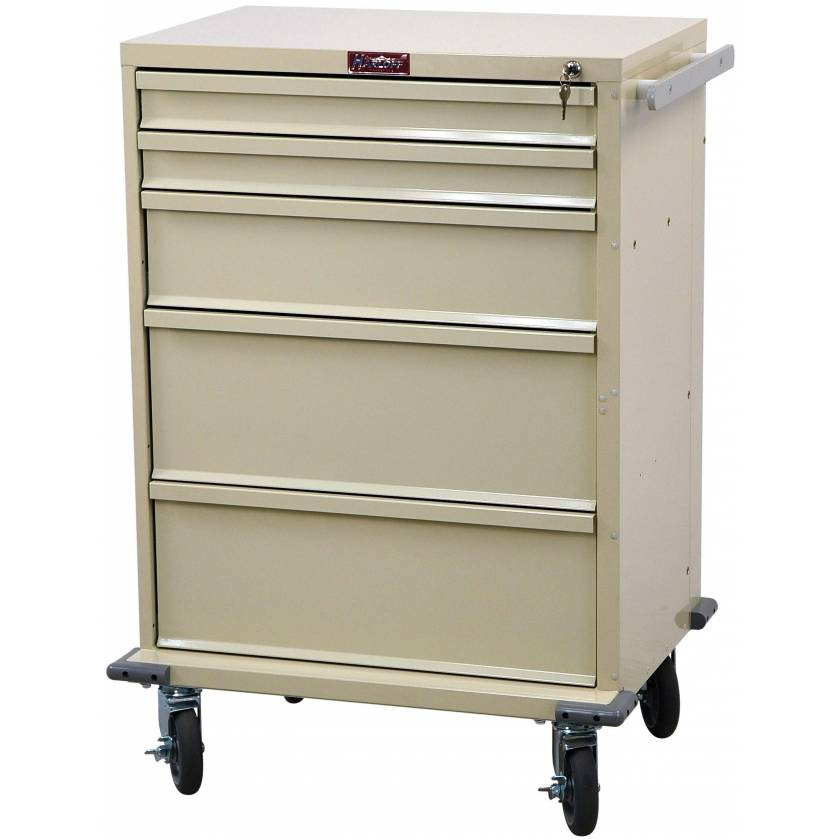 V-Series Treatment and Procedure Cart - Tall Five Drawer