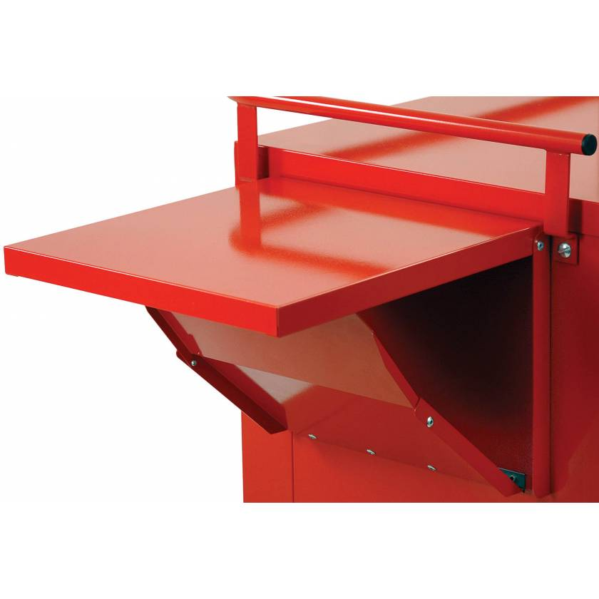 Side Mounted Drop Shelf Without Lip for V-Series Carts