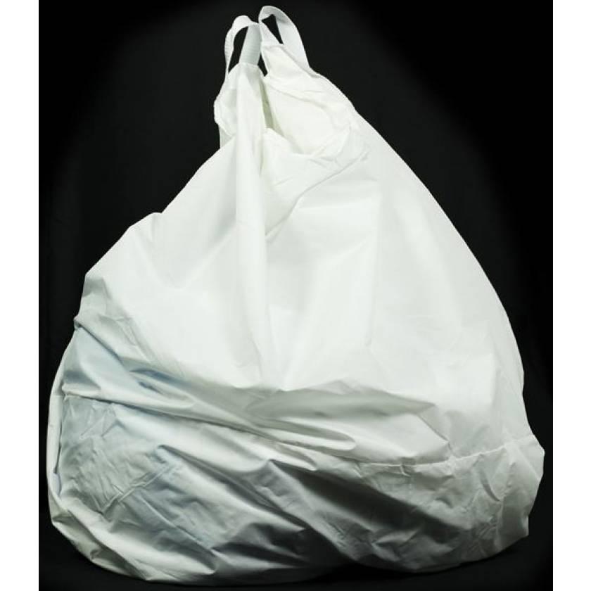 """Reusable Nylon Hamper Bag - White 18"""" Diameter"""