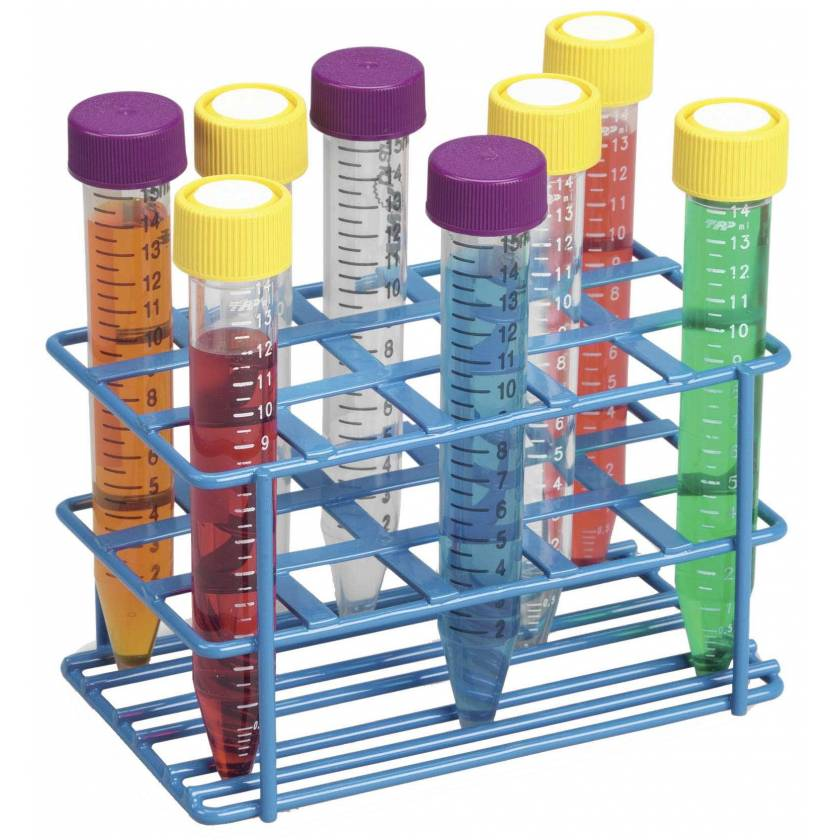 15-Well Wire Rack for 15mL Tubes - Blue