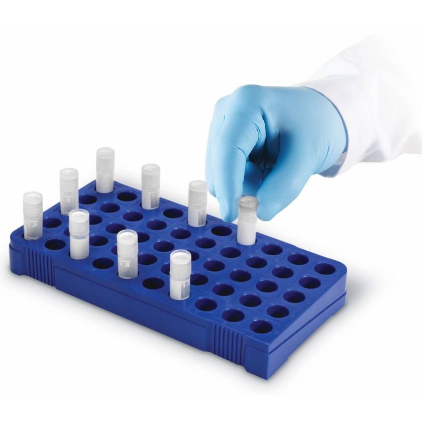 50-Well Cryogenic Vial Holder - Blue
