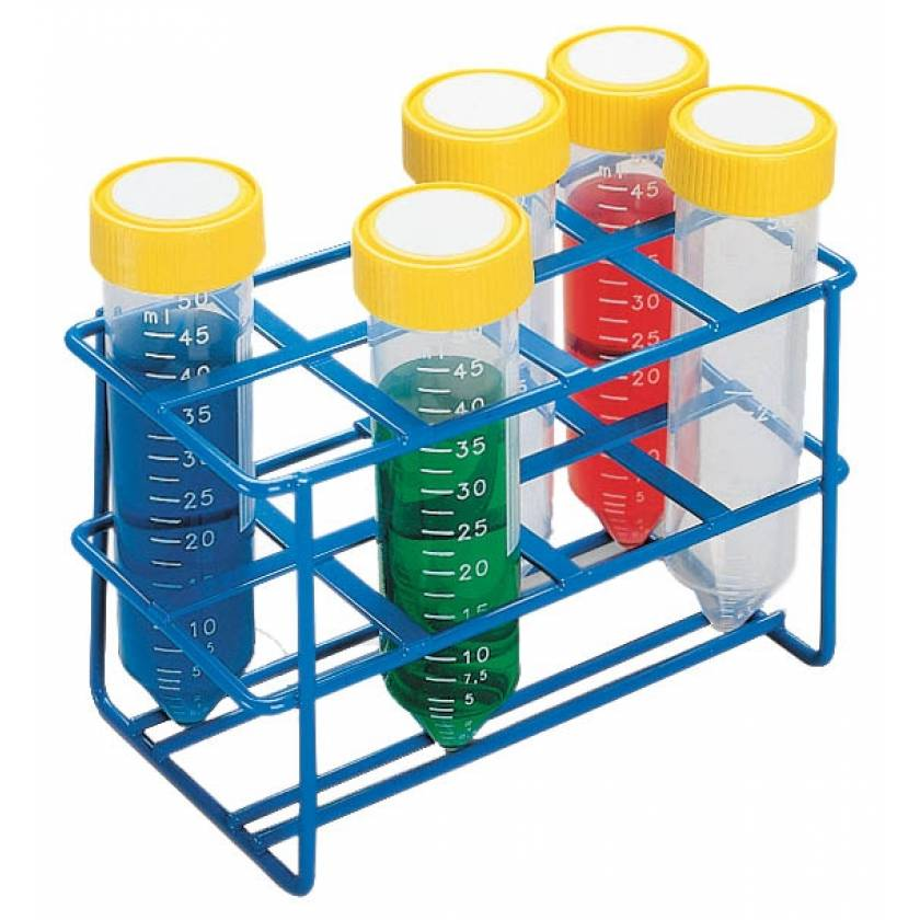 8-Well Wire Rack for 50mL Tubes - Blue