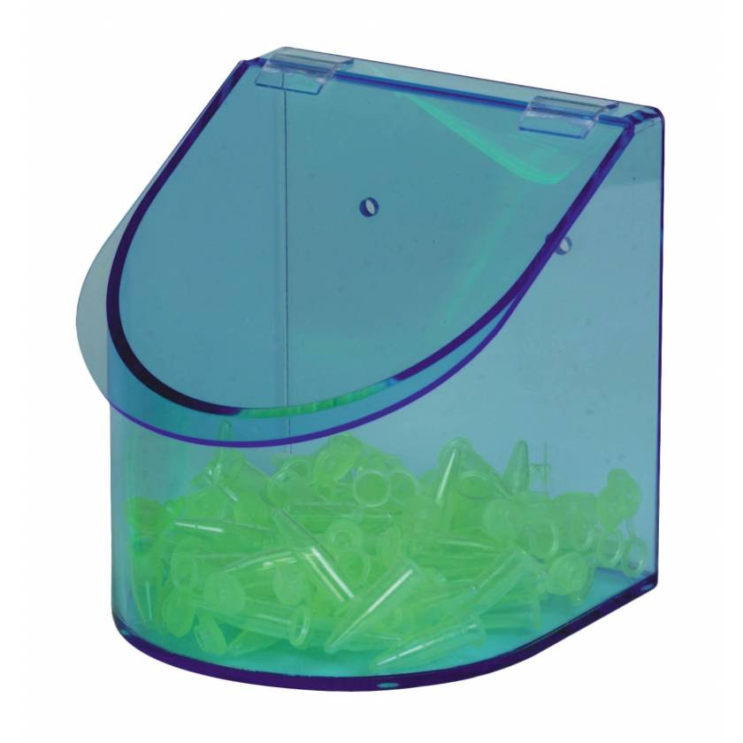Acrylic Benchtop Dispensing Bin Single Compartment With Lid - Neon Blue