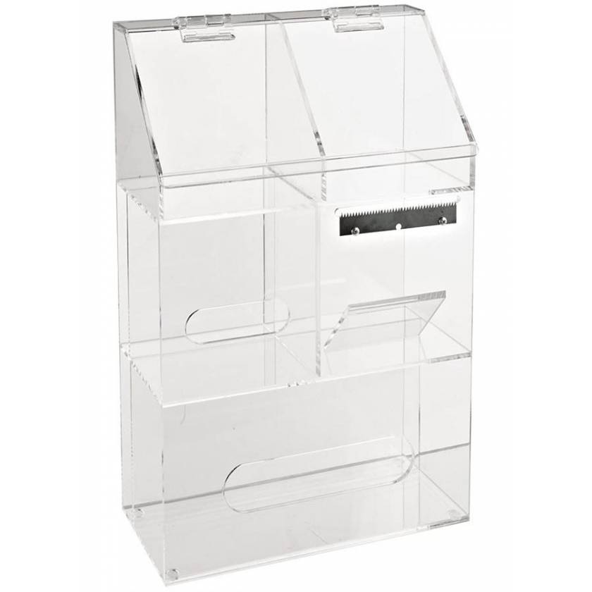 Laboratory Workstation Storage Bin For Disposables  - Acrylic