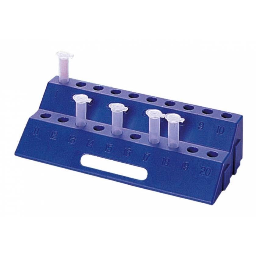 20-Well Micro-Centrifuge Tube Rack - Blue