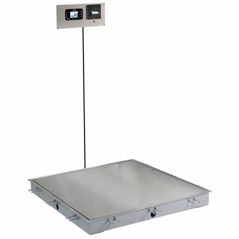 "Detecto Solace In-Floor Dialysis Scale 36"" x 36"" Stainless Steel Platform"