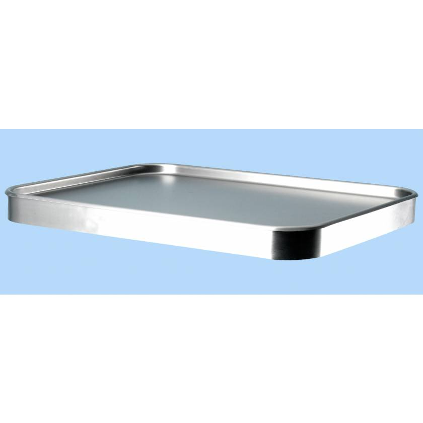 "Stainless Steel Mayo Stand Replacement Tray - 16""D x 21""W"