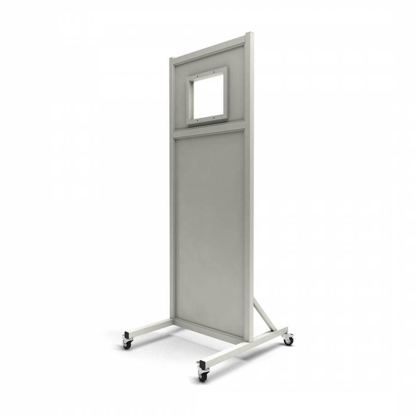 "24""W x 72""H Opaque Mobile Lead Barrier LB-1012-2472"