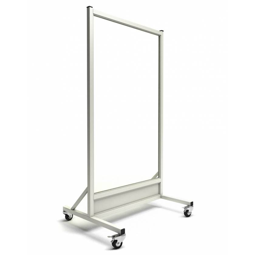 "Phillips Safety LB-3060 Mobile Lead Barrier Glass Window Size 60"" H x 30"" W"
