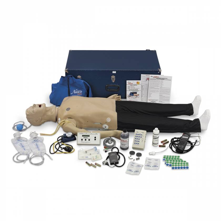 Life/form Adult CRiSis Auscultation Manikin with ECG Simulator