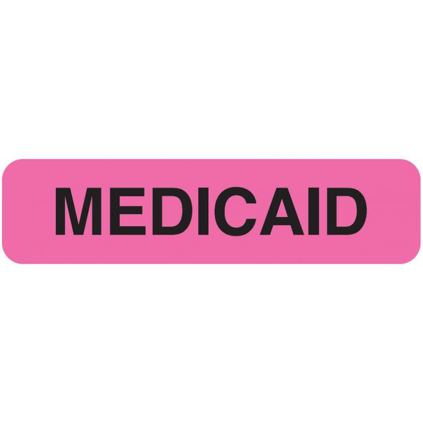 "MEDICAID Label - Size 1 1/4""W x 5/16""H"