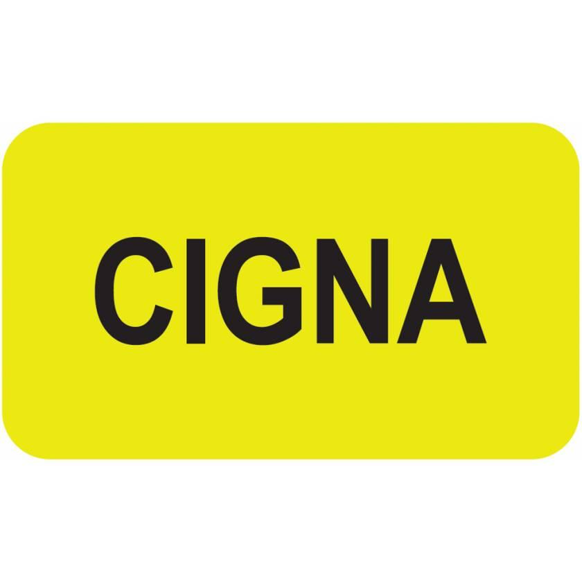 """CIGNA Label - Size 1 1/2""""W x 7/8""""H"""