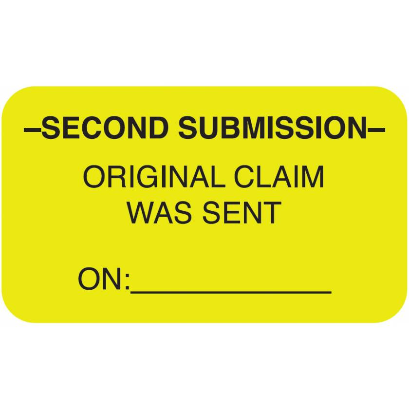 """SECOND SUBMISSION Label - Size 1 1/2""""W x 7/8""""H"""