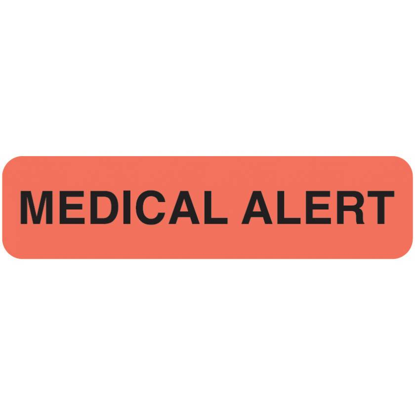 "MEDICAL ALERT Label - Size 1 1/4""W x 5/16""H"