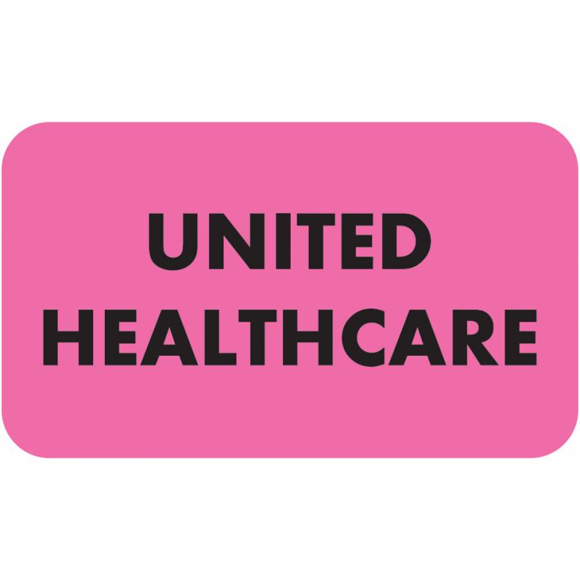 "UNITED HEALTHCARE Label - Size 1 1/2""W x 7/8""H"