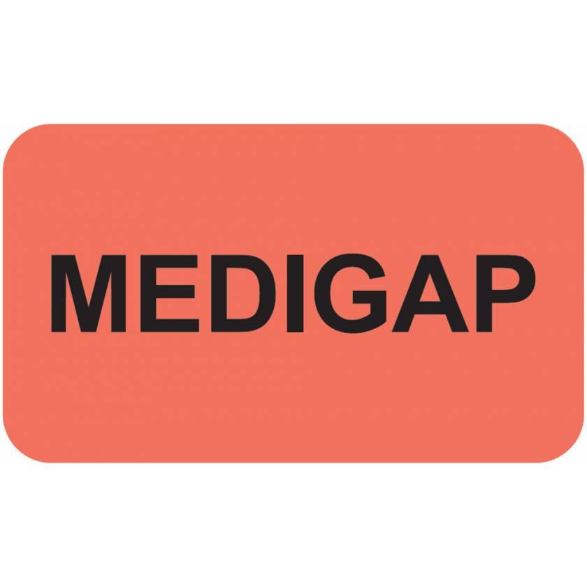 "MEDIGAP Label - Size 1 1/2""W x 7/8""H"