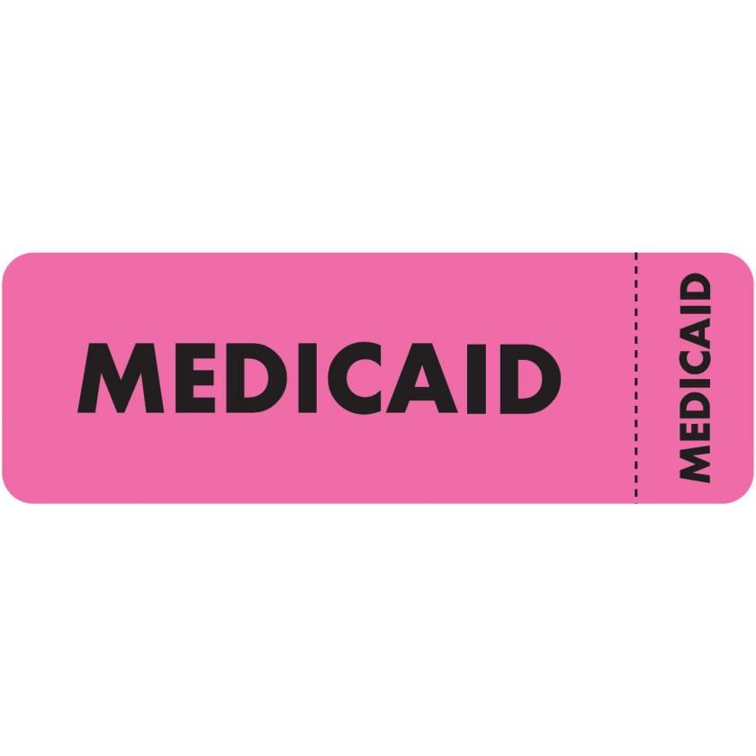 """MEDICAID Label - Size 3""""W x 1""""H - Wrap Around Style"""