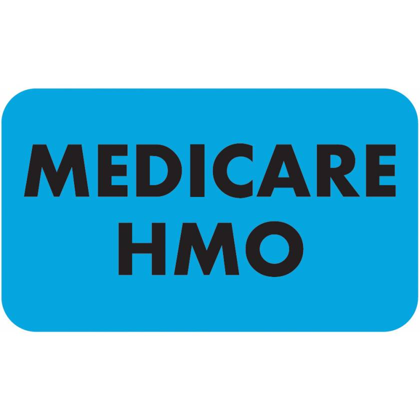 "MEDICARE HMO Label - Size 1 1/2""W x 7/8""H"