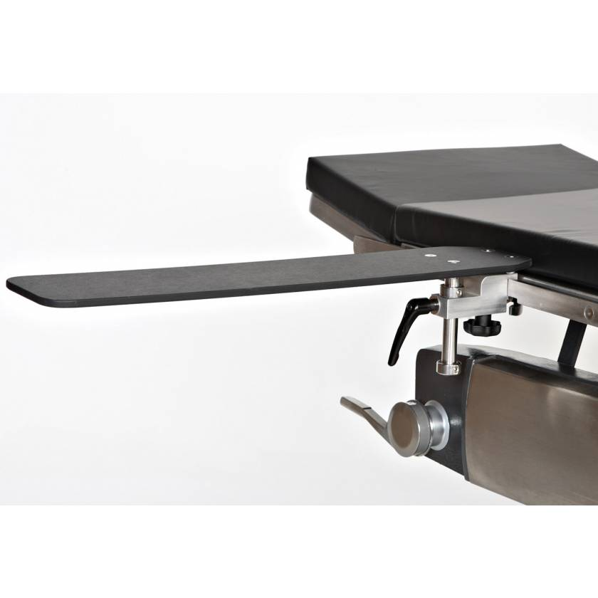 Radiolucent Armboard with Built In Rail Mount