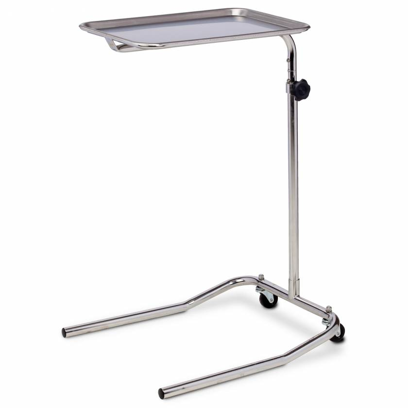 Clinton MS-23 Single Post Stainless Steel Mayo Stand