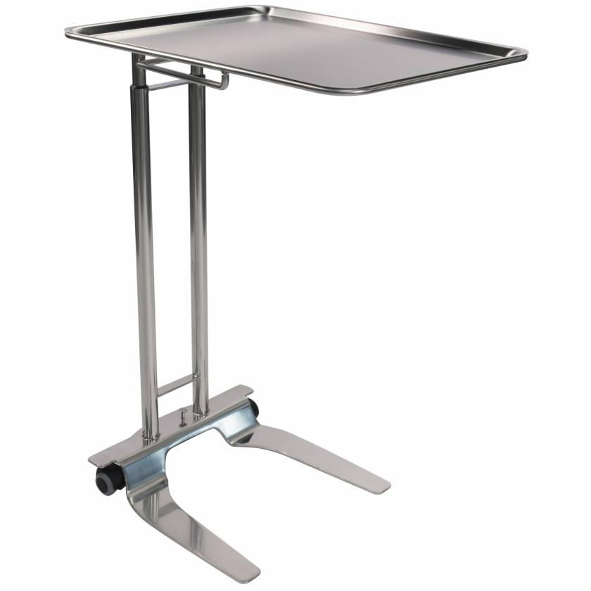"""Pedigo P-1065-SS Stainless Steel Foot-Operated Mayo Stand With 20"""" x 25"""" Tray"""