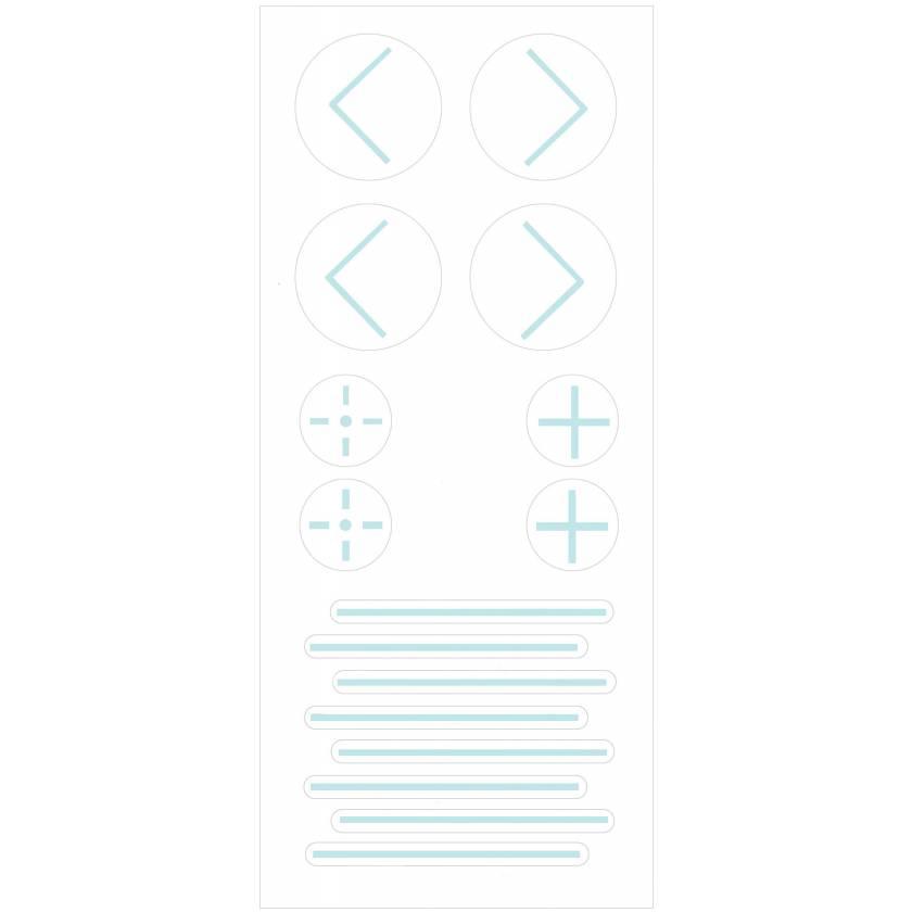 PortalMark Radiation Treatment Combination Sheet Labels for Dark Skin Surfaces