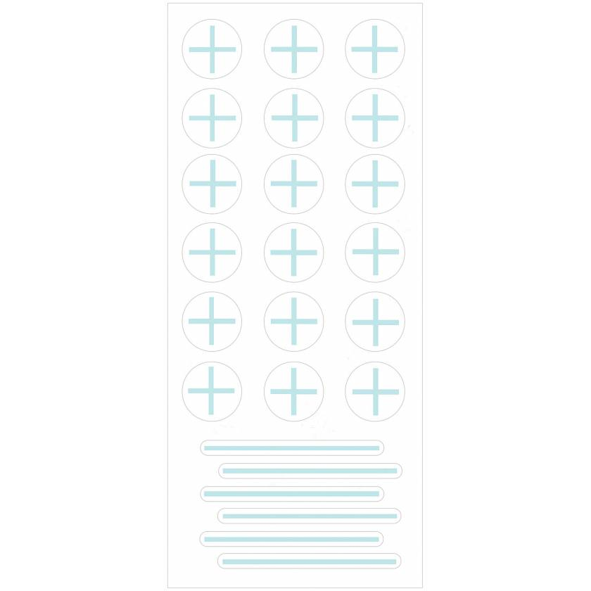 PortalMark Radiation Treatment Isocenter/Field Line Sheet Labels for Dark Skin Surfaces