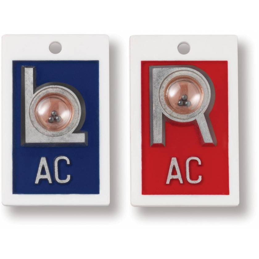 """Plastic Position Indicator Markers - 7/8"""" """"L"""" & """"R"""" With Initials - Vertical"""