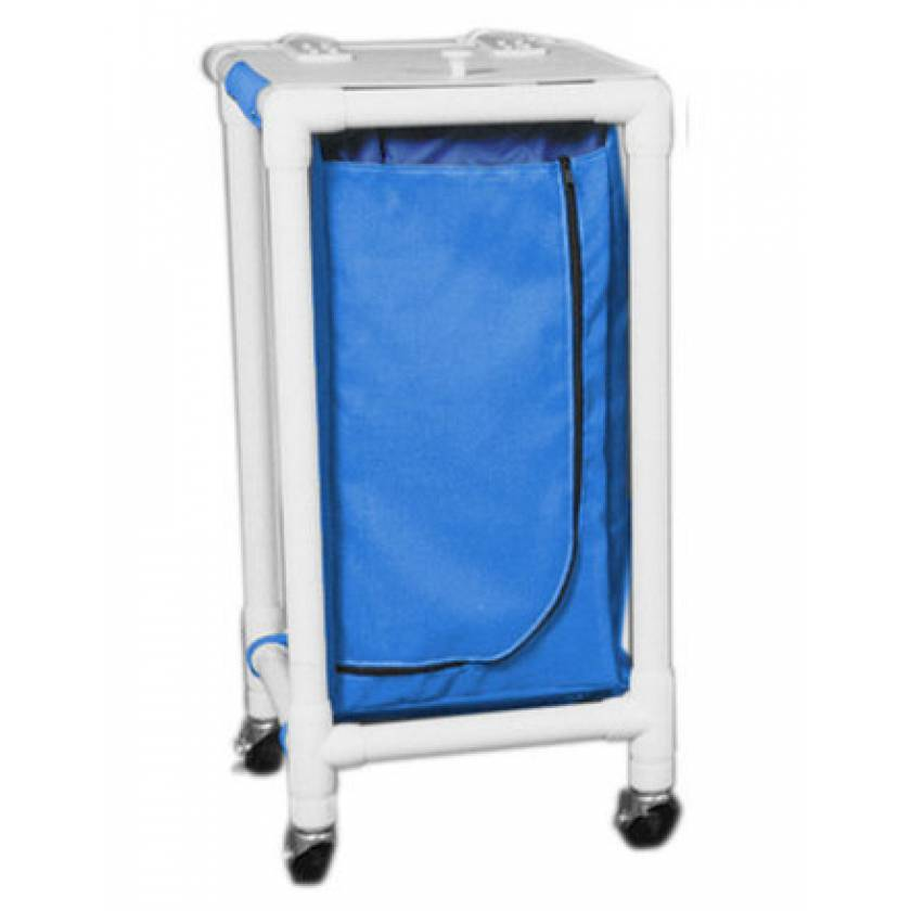 MRI-Conditional Single PVC Hamper Cart - Regular Capacity