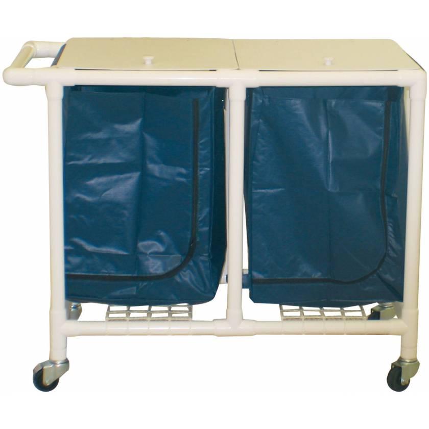MRI-Conditional Double PVC Hamper Cart - Large Capacity