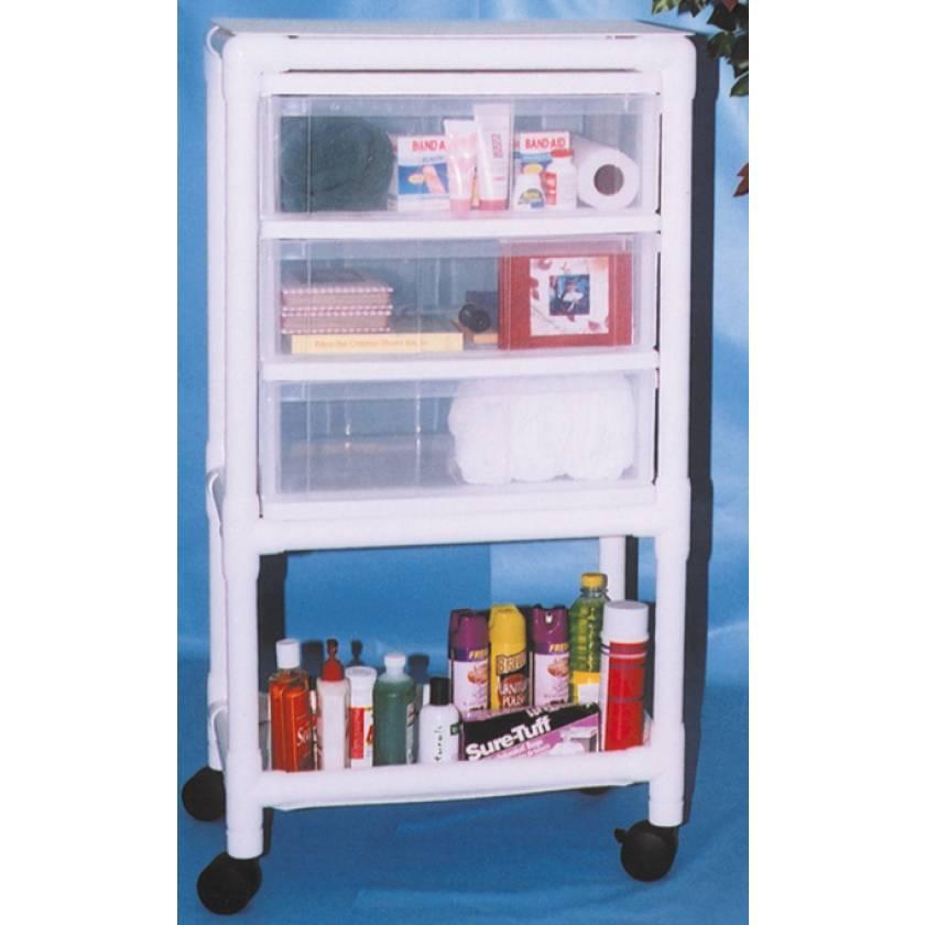 MR-Conditional PVC Universal 3-Drawer Storage Cart