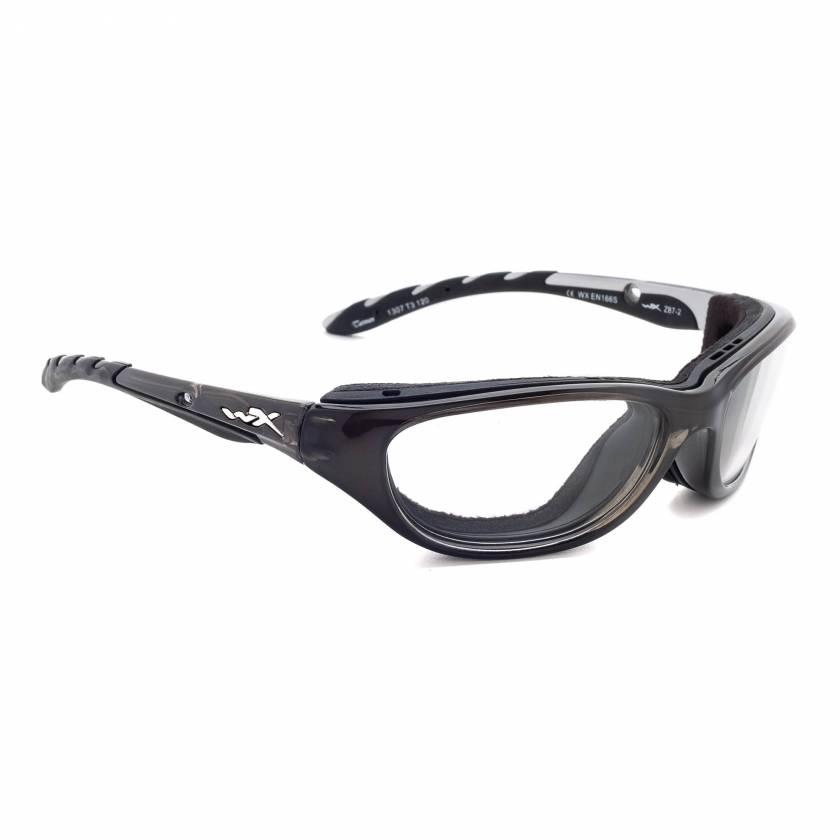 Airrage Wiley-X Nylon Wrap Around Radiation Glasses - Crystal Metallic 697F