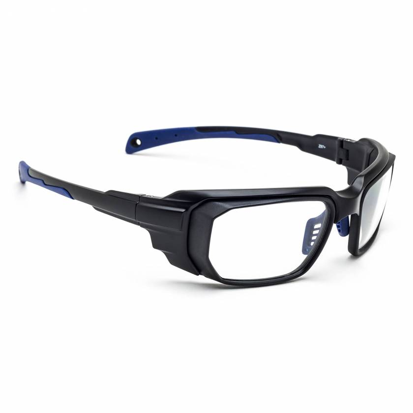 Model 16001 Wrap Around Radiation Glasses - Black Blue