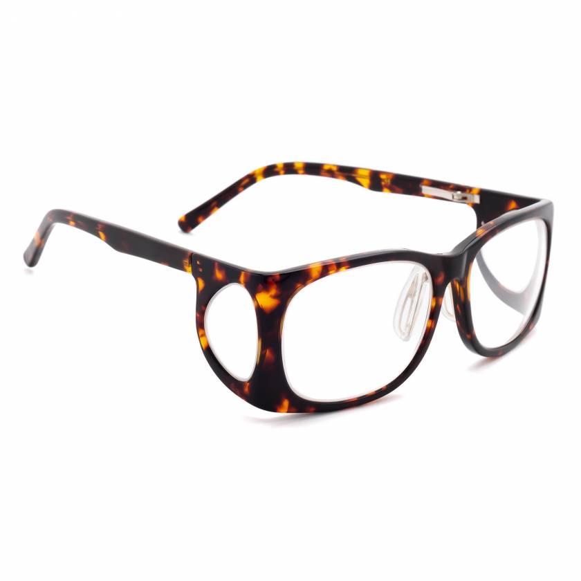 RG-52 Plastic Wrap Radiation Glasses - Tortoise