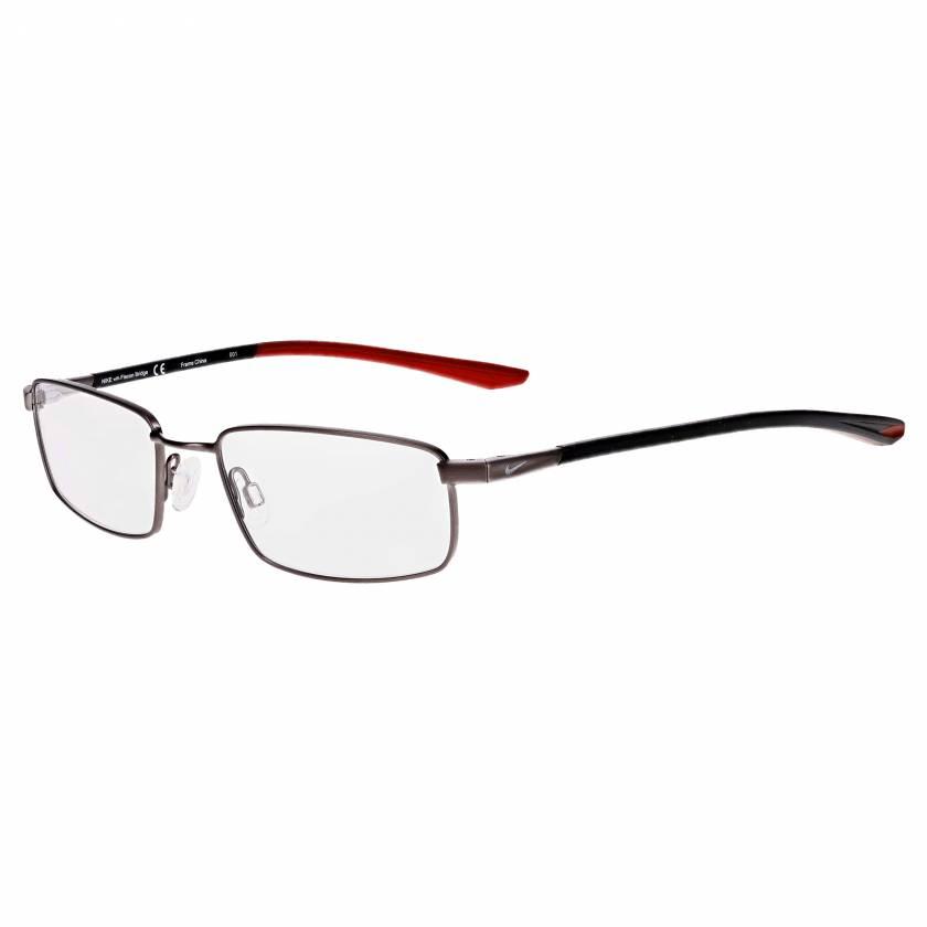 Nike 4301 Radiation Glasses - Brushed Gunmetal Gym Red 073