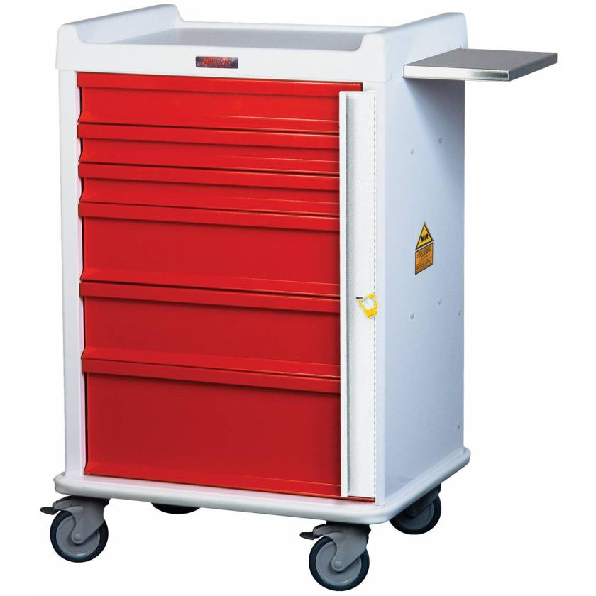 MRI Emergency Cart 6 Drawer - Standard Package with Breakaway Lock