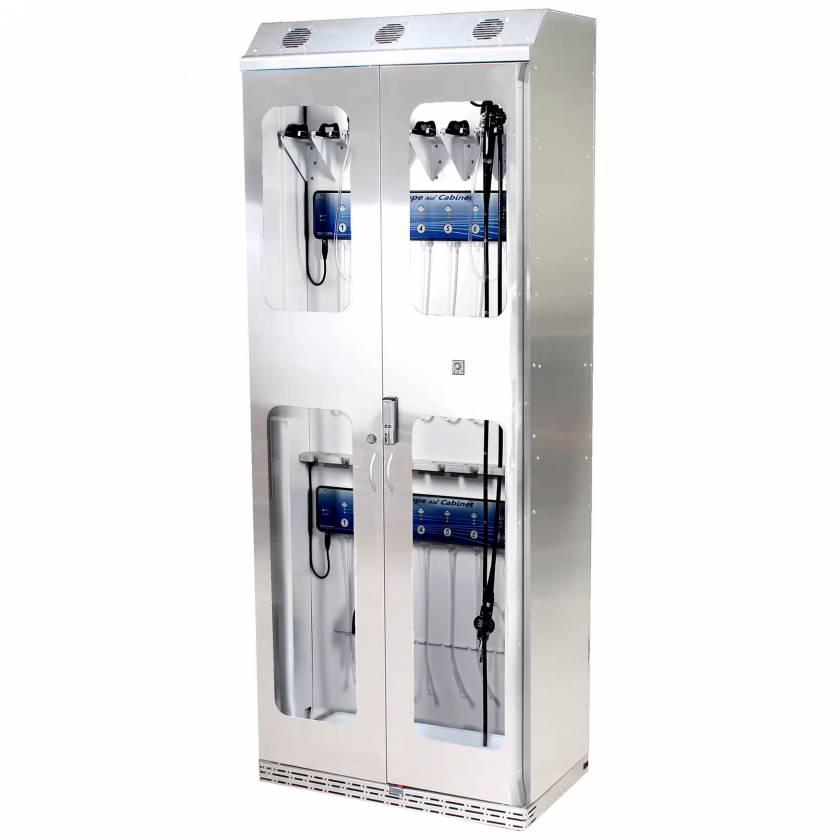 Harloff SCSS8136DREDP-DSS3316 Stainless Steel SureDry 15 Scope Drying Cabinet with Dri-Scope Aid - Basic Electronic Push Button Locking Tempered Glass Doors