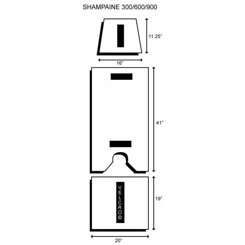 Shampaine/MDT/Getinge 300-600-900-X 3 Piece Table Pad Set