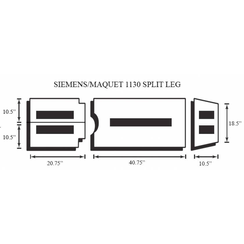 Siemens/Maquet 1130 4 Piece Table Pad Set - Split Leg