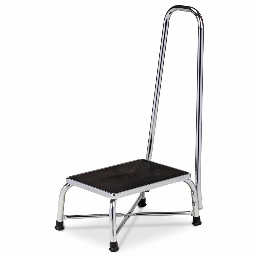 Clinton Model T-6250 Large Top Bariatric Step Stool with Handrail