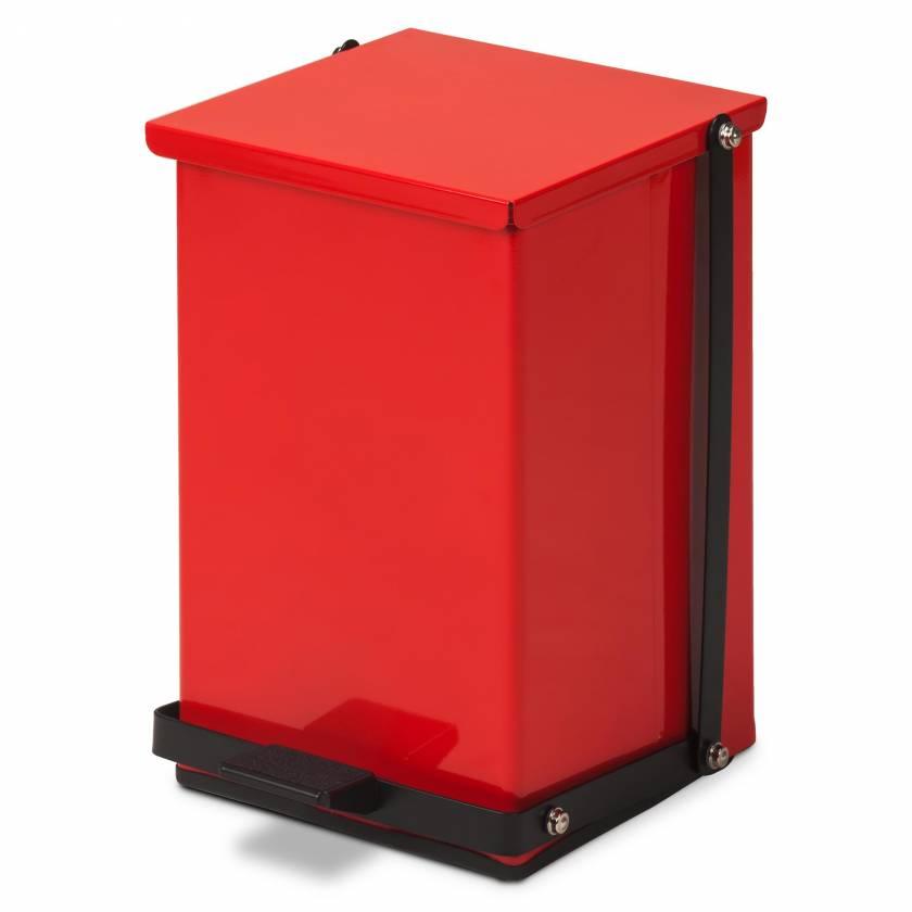 Clinton Model TP-24R 24 Quart Premium Red Waste Receptacle