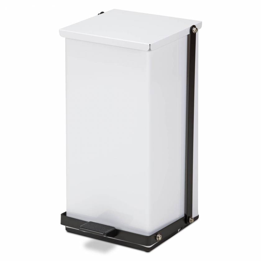 Clinton Model TP-32W 32 Quart Premium White Waste Receptacle