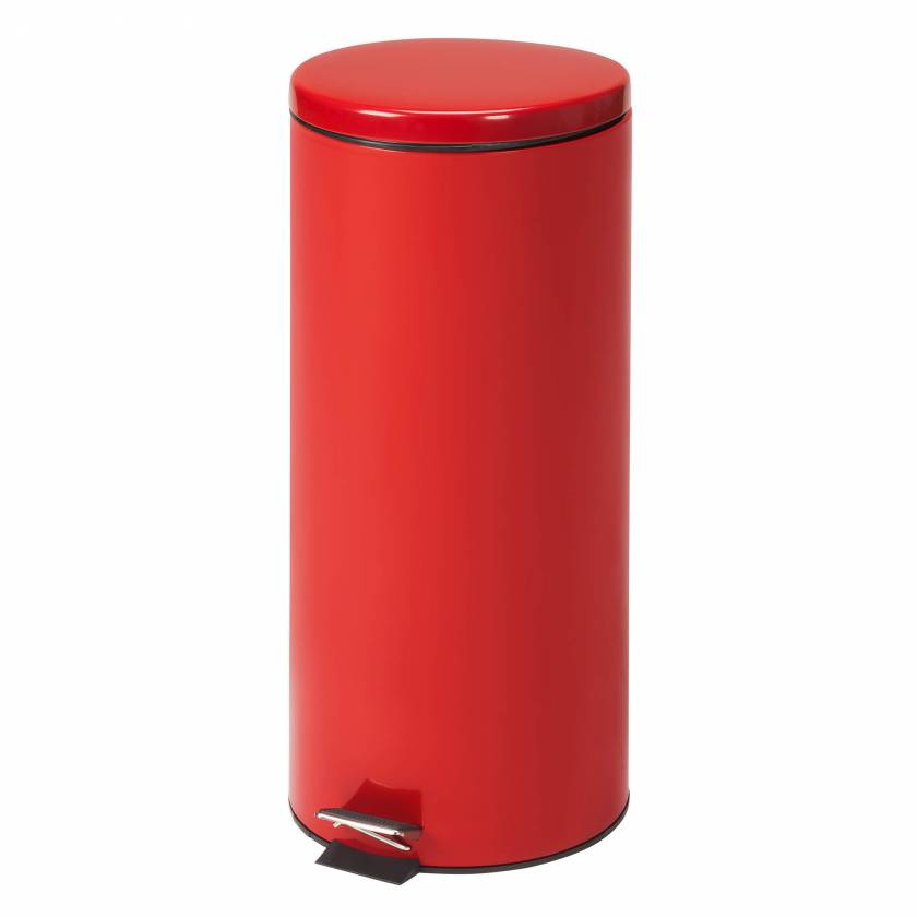 Clinton Model TR-32R Large Round Red Waste Receptacle - 32 Quart (8 Gal)