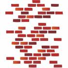 Clinton Wall Sticker - Brick