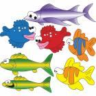 Clinton Wall Sticker - School of Fish (Left Facing)