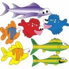 Clinton Wall Sticker - School of Fish (Right Facing)